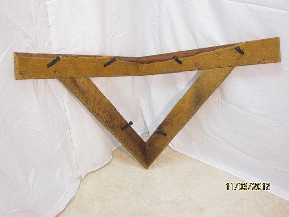 Reclaimed Recycled Elm Wood Corner Coat Rack $165: Elm Wood, Wood Corner