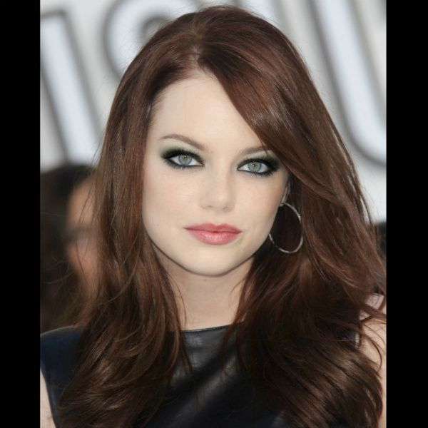 """""""Emma Stone"""" created using TAAZ Virtual Makeover. Try on Hairstyles, Makeup, and color your own hair. It's free!"""