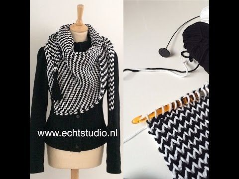 "Tunisch haken: de ""knitstitch"" - YouTube"