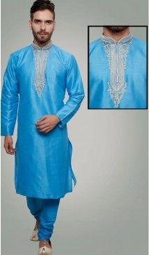 Blue Color Art Silk Party Wear Readymade Men Churidar Kurta | FH554982868 Follow us @heenastyle  #menethnicwear #kurtapyjama #diwalidhamaka #menwear #ethnicwear #menethnicwear #kurta #menkurta #menkurtapyjama #Sherwani #indiankurtapyjama #instalike #instalove #follow4follow. #bhaiKiShaad #shervani #tradional #lucknow #selfiee #throwback #marriage #shervani #manyavar #heenastyle #menskurtapajama #menchuridarkurta