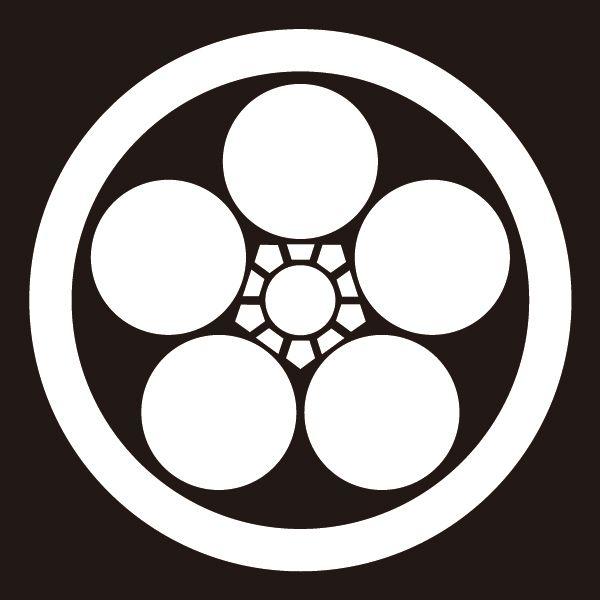 楽天市場 貼り紋 丸に梅鉢 シールタイプ6枚1組 着物 羽織 家紋 紋付