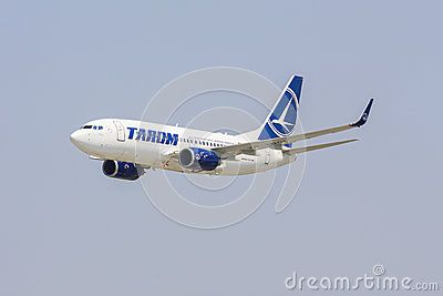 Boeing 737 of TAROM company climbs after take off on July 27, 2013 in Bucharest, Romania. TAROM owns one of the youngest fleet in Europe, consisting of 24 aircraft.