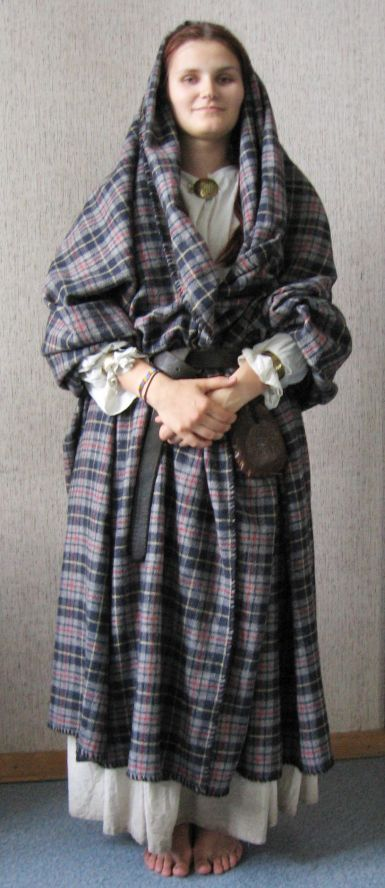 """Arisaid"" was the earliest form of women's dress in Scotland. Scythian-Celt connection: plaid"