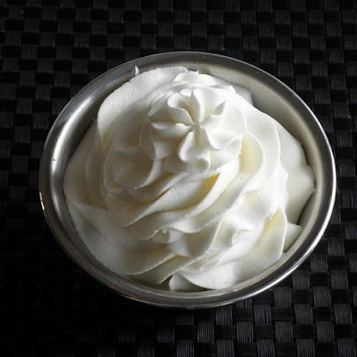 Stabilized whipped cream frosting - ever wonder how bakeries use real whipped cream but it doesn't fall apart?  This is how. * I just add 1 tablespoon instant pudding per 1 cup heavy cream and whip. It will hold forever.  Interesting.