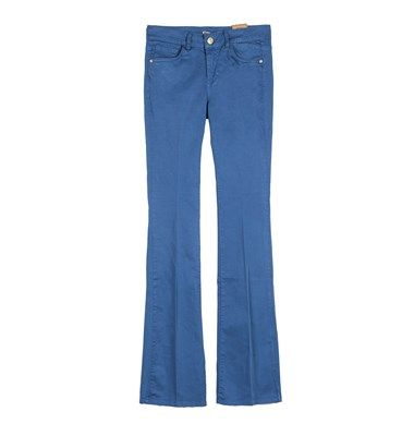 Gabardine bootcut blue navy trousers