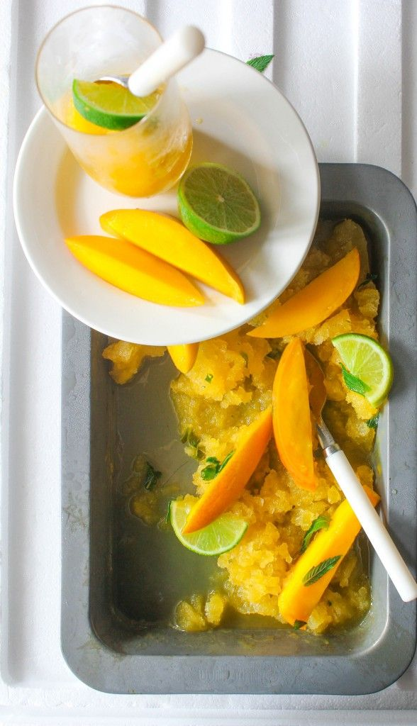 Mango, Mint and Lime Granita | Desserts...Something Different | Pinte ...