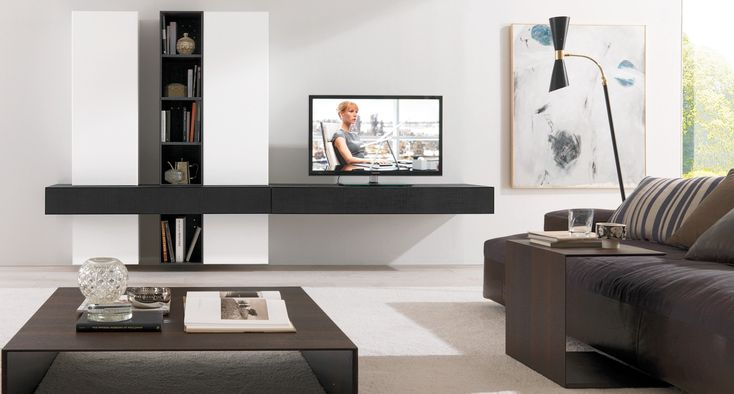Dark-living-room-furniture-ideas-with-most-comfy-couch-with-stylish-coffee-table-and-floating-tv-wall-cabinets-with-unusual-corner-floor-lamp-with-artistic-canvas-painting