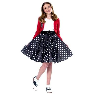 This 50s' costume includes: top  skirt.