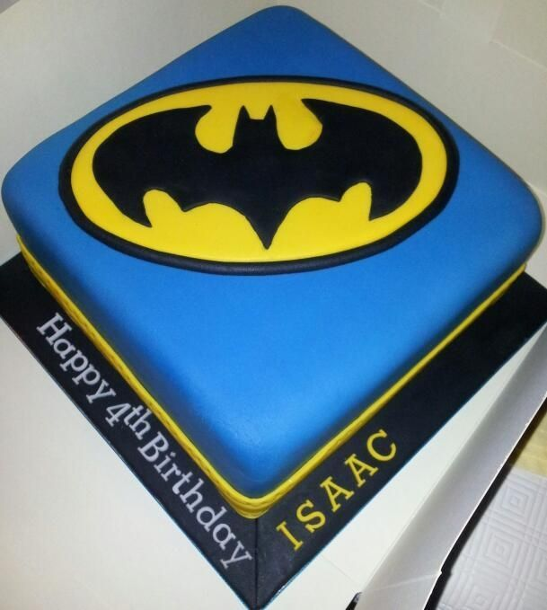 Batman cake; love the colors in this one.