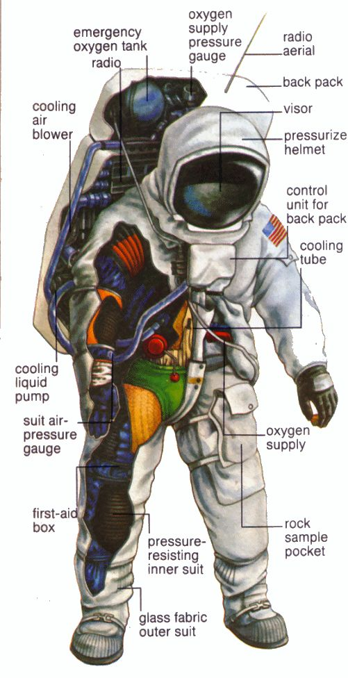 space suit labeled - photo #14