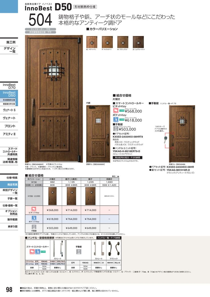 商品選択用総合カタログ 玄関ドア カタログビュー 玄関 玄関ドア