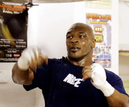 During his teens, he used to go to the Golden Gloves gym to watch Mike Tyson (pictured) prepare for his fights.   -  © TEDDY BLACKBURN/Newscom/Reuters
