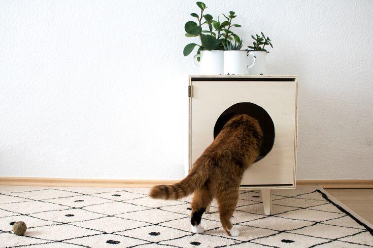 Katzen - Möbel selber bauen oder auch das perfekte Katzenklo mit Designpotential.