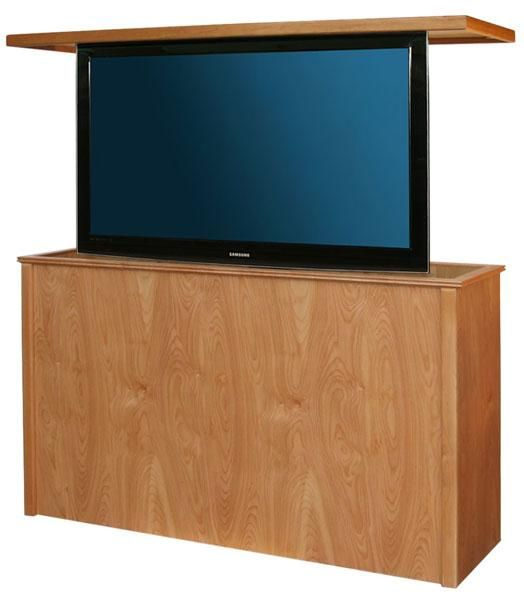 Danish Modern Tv Lift Cabinet With Swivel A Up To 40