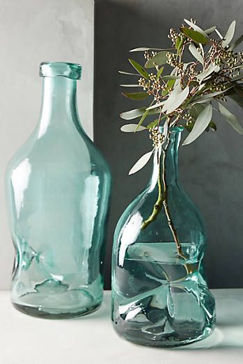Pinched Glass Vase