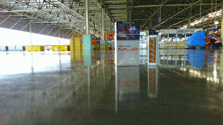 Plan 3 Toyota Manufacturing Krawang | Polished by Teknoklinz Indonesia Polished Concrete Expert
