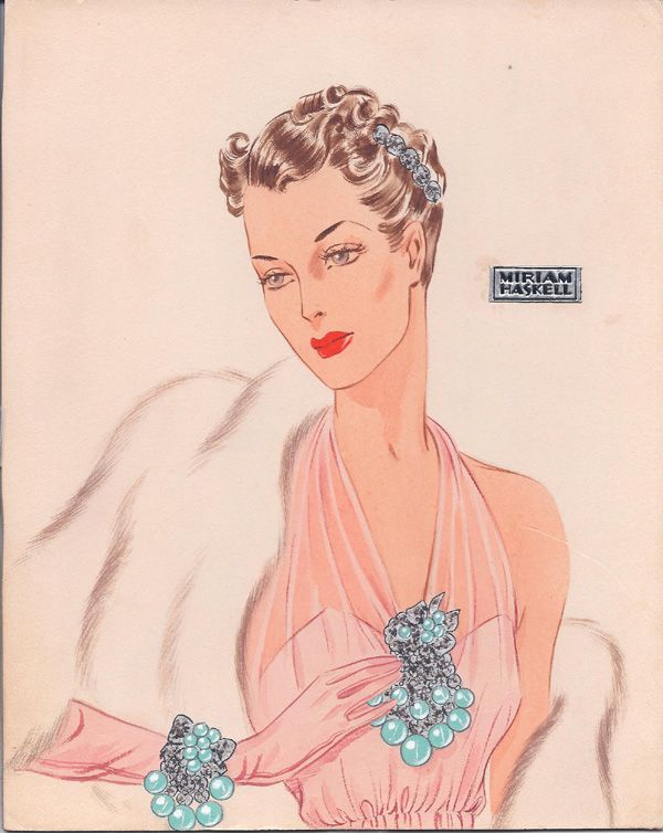 Miriam Haskell Jewelry ad