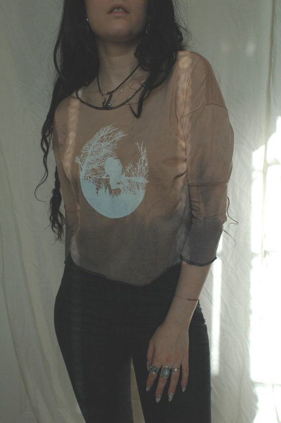 nn x Old Hag  HÄXSABBAT  Pale Sunset Top by raintower on Etsy, $44.00