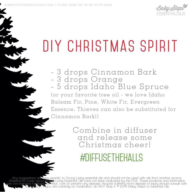 DIY Christmas Spirit Diffuser Blends Buy dōTERRA essential oils online at www.mydoterra.com/suzysholar, or contact me for more info.