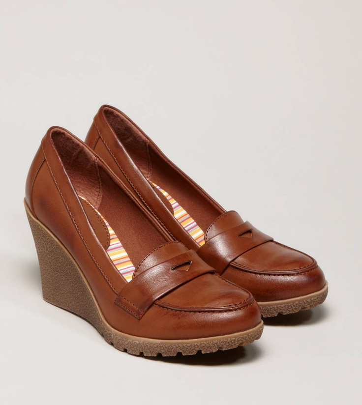 aeo loafer wedge shoes