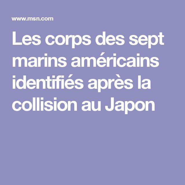Les corps des sept marins américains identifiés après la collision au Japon