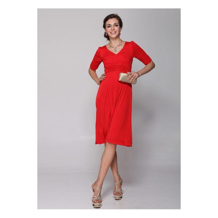 Cute Semi-Formal Red Dresses for Juniors