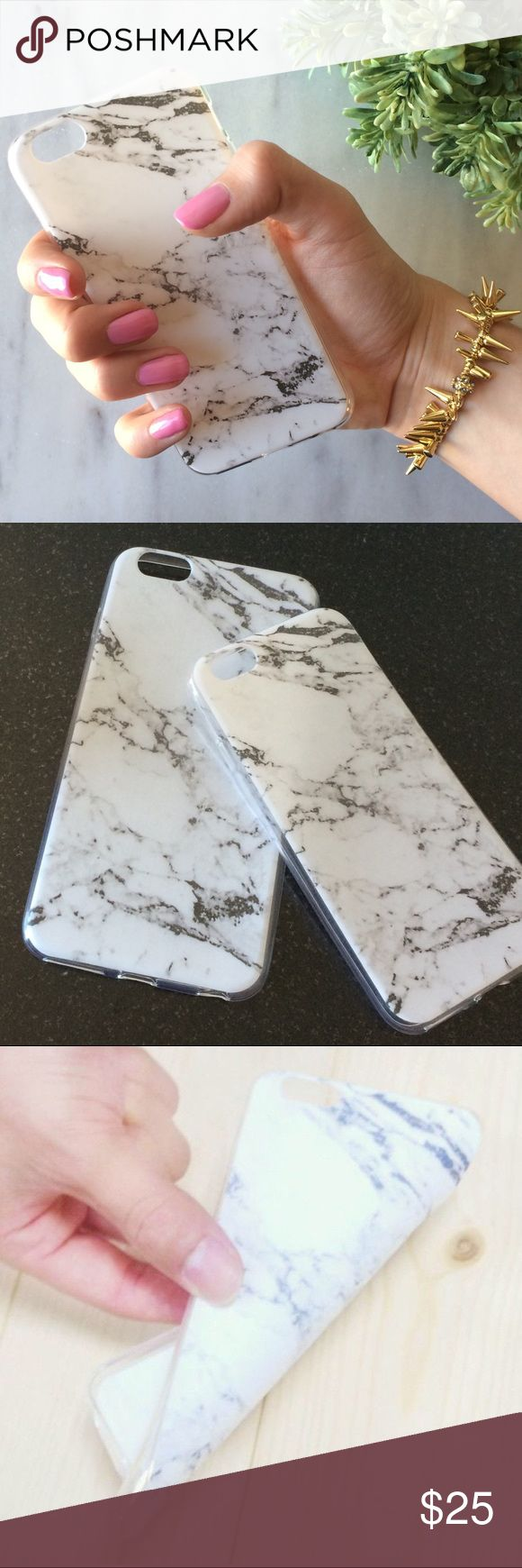 NEW! Granite Marble iPhone case This high quality faux marble phone case is made of durable soft flexible rubber material.  It protects your phone from dirt, scratches, dings and everyday use.  Compatible with the iPhone 6 6S and iPhone 6 Plus. pearl street Accessories Phone Cases