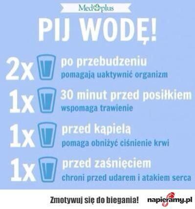 Dlaczego należy pić wodę?