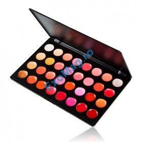 Trusa Lipgloss Ruj 32 culori - http://exomag.ro/Truse-de-machiaj-Blush-farduri-eyeshadow-eyeliner-lipgloss/trusa-machiaj-lipgloss-ruj-32-culori-kisses-in-the-wonderland.html