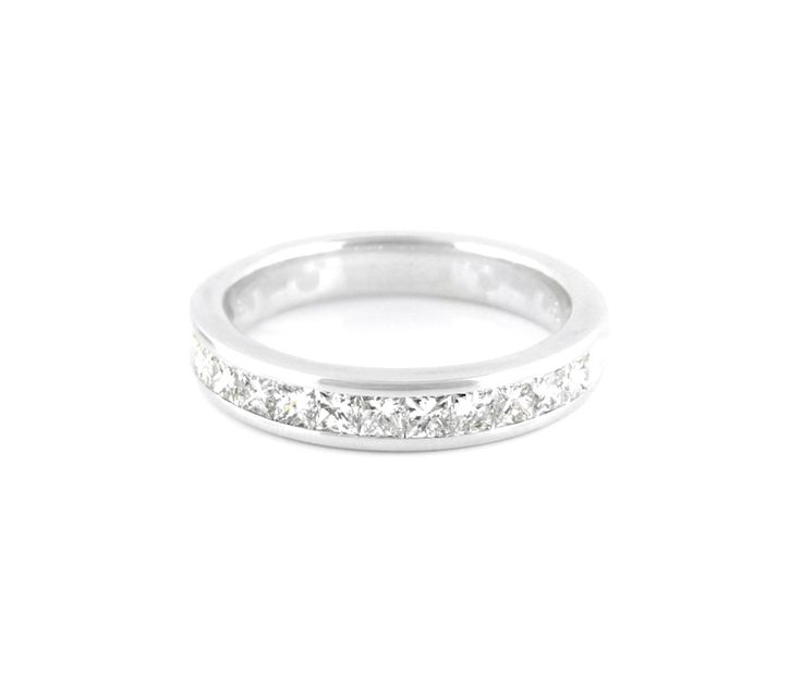 An 18ct White Gold and Princess Diamond Eternity Ring