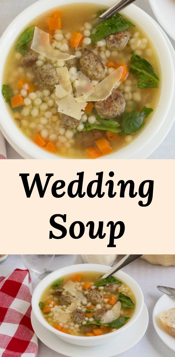 Italian Wedding Soup is an easy recipe with chicken broth