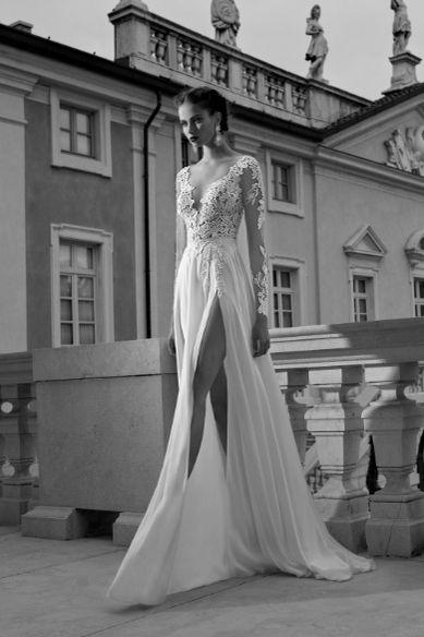 греческое свадебное платье с рукавами