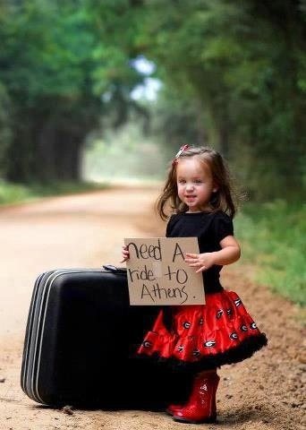 "OMG I want to have babies so I can do this...Would be cute too if it said "" need a ride to Grandmas"""
