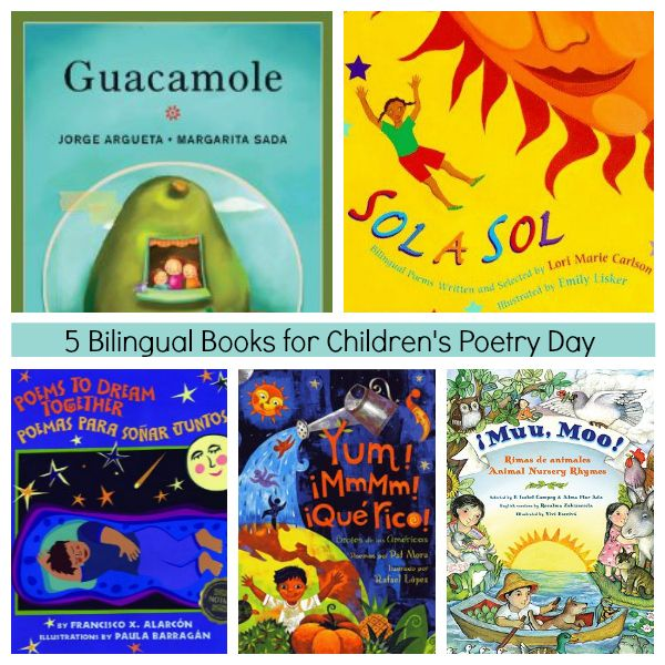 5 Bilingual Books for Children's Poetry Day SpanglishBaby.com