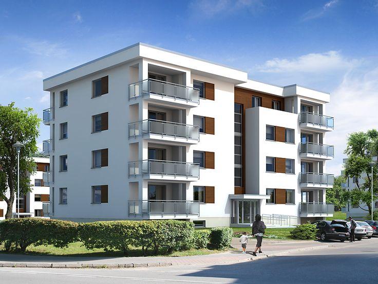 W budynku przewidziano 14 mieszkań: jedno-, dwu- i trzypokojowych.