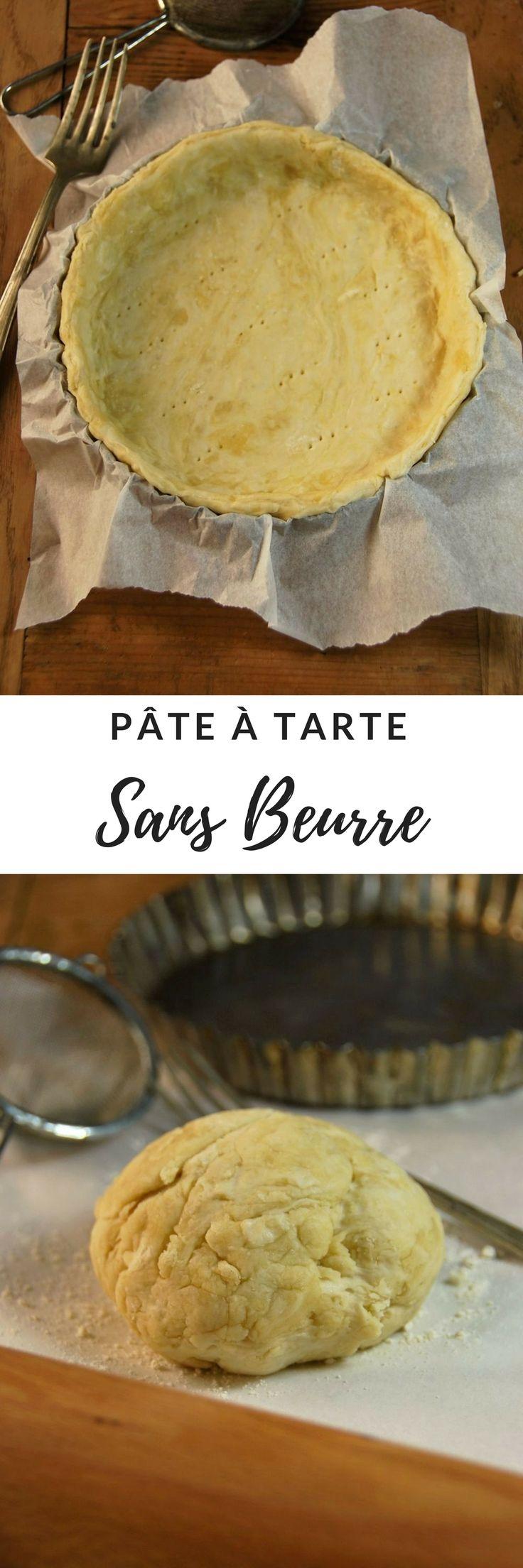 Pâte à tarte sans beurre {recette facile, rapide et vegane} Pour tartes salées et sucrées.
