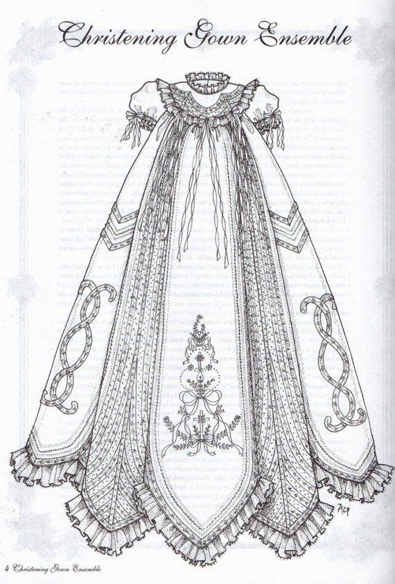 Bautizo vestido Ensemble Plus antiguos diseños de por sandmarg
