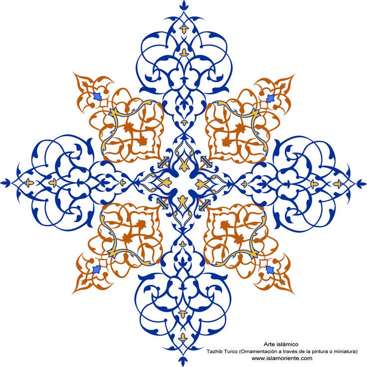 Arte islámico– Tazhib Turco (Ornamentación a través de la pintura o miniatura)