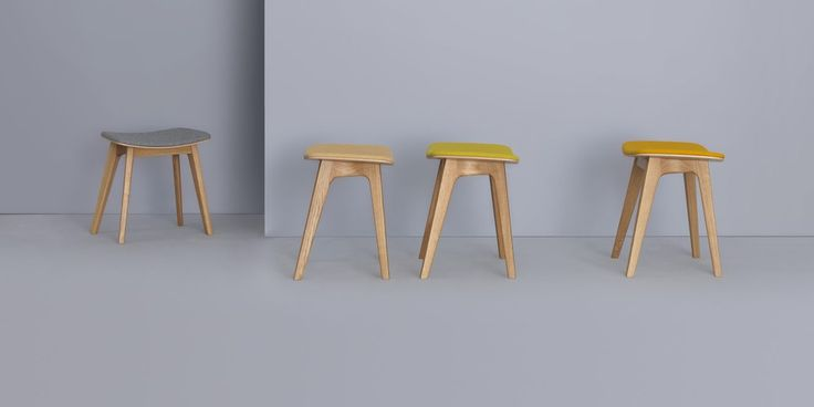 New for 2014! MORPH STOOL with optional upholstered seat by Formstelle for ZEITRAUM