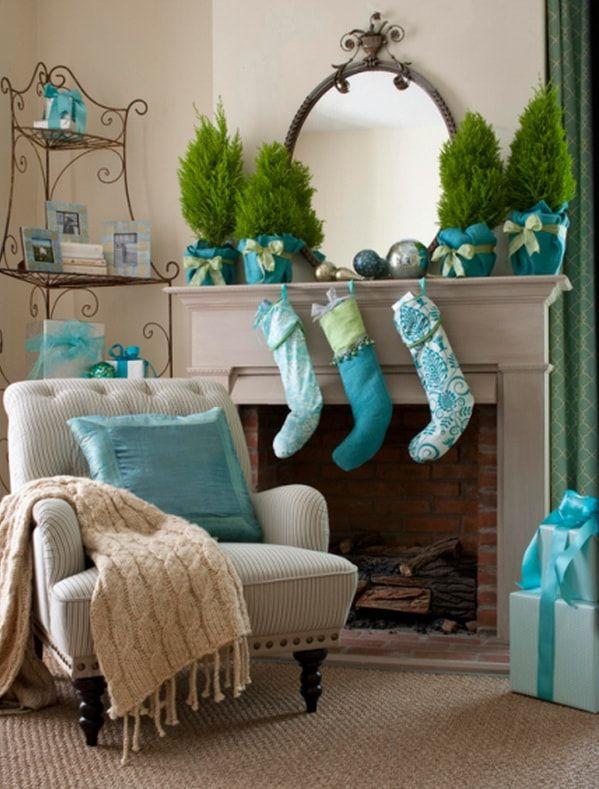#Decoración navideña en #azules