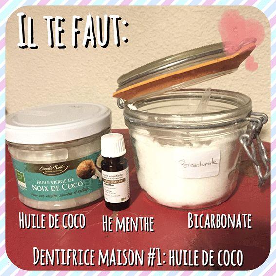 Aujourd'hui je partage avec toi la recette de mon premier dentifrice maison à l'huile de coco, et je te dis pourquoi je suis assez mitigée sur le résultat Les ingrédients: *de l'huile de coco *précision: tu la trouves au rayon…