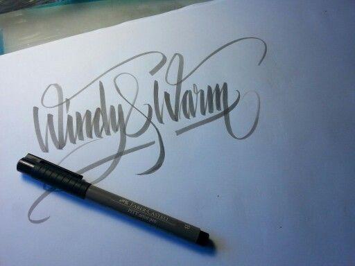 Brush letters.