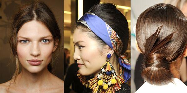 Capelli raccolti 2013: dalle passerelle le nuove tendenze degli chignon. Scopriamo le idee di Gucci, Valentino, Ralph Lauren, Chanel,