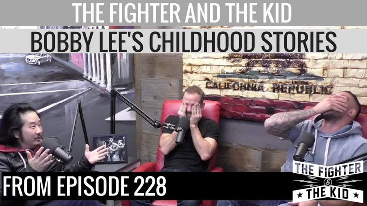 Brendan Schaub tries not to laugh as Bobby Lee tells him about being molested as a child