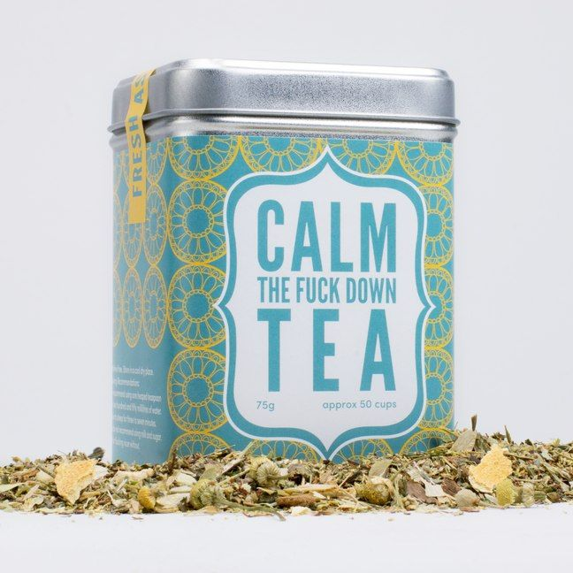 Calm The F*ck Down Tea, The Perfect Cuppa For a Quiet Night at Home