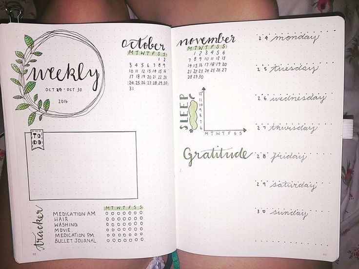 Weekly spread idea from Boho Berry tribe | Bullet journal