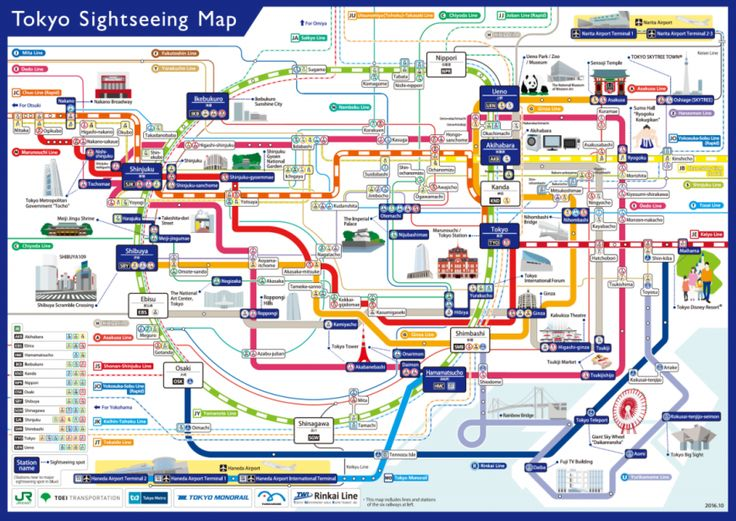 East Japan Railway Co. and Tokyo Metro Co. are among six railway operators that have created an English railway map to help tourists reach major sightseein