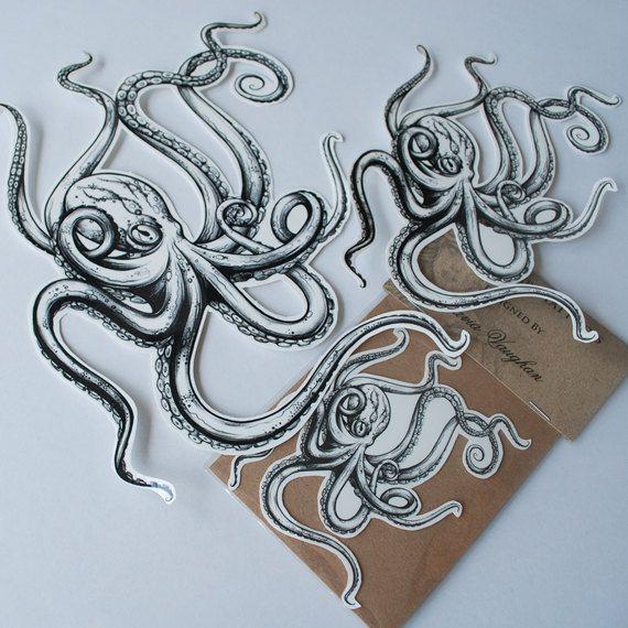 Octopus temporary Tattoo Temporary Tattoo by OctaviaTattoo