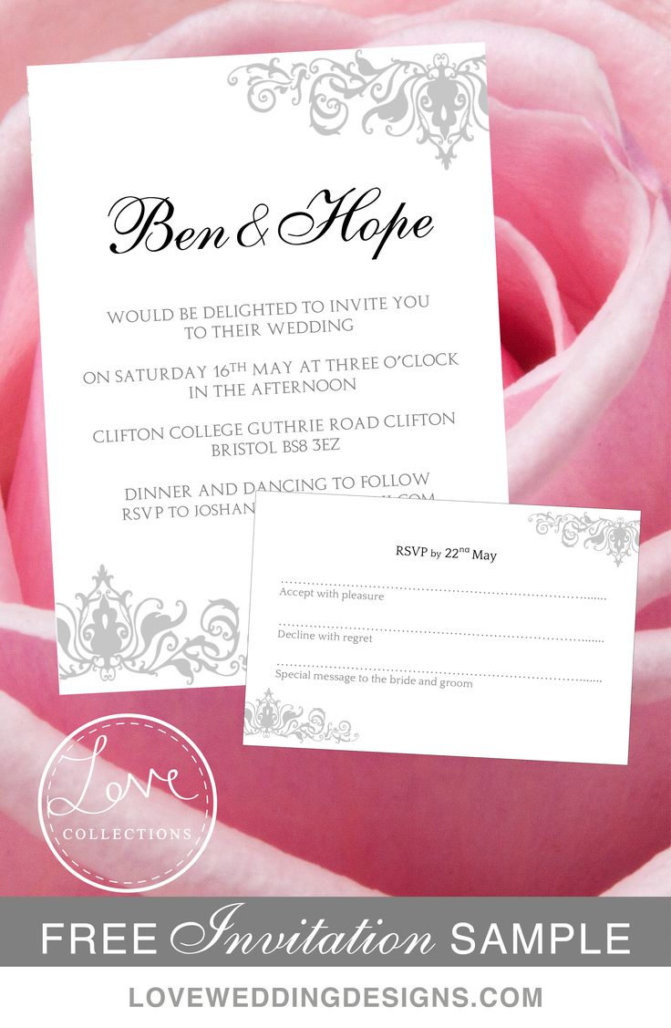 189 best Printable Wedding Invitations images on Pinterest | Invite ...