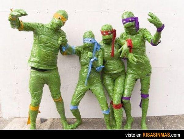 Disfraces desastrosos: Tortugas Ninja Jóvenes Mutantes.